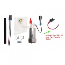 Walbro F90000267 Fuel Pump 450LPH High Pressure (Universal E85) & Installation Kit & Hard Wire Kit