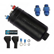 Quantum 380LPH Inline External E85 Compatible Fuel Pump + 10AN Inlet / 8AN Outlet (With Check Valve)